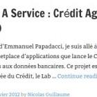 Bank As A Service : Crédit Agricole lance CA Store (CAStor)