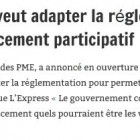 Le gouvernement veut adapter la réglementation pour permettre le financement participatif