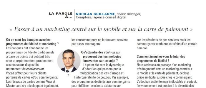 Passer à un marketing centré sur le mobile et la carte de paiement (article Agefi)