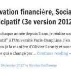 Innovation financière, Social Banking et Financement participatif (3e version 2012)
