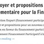 Plaidoyer et propositions pour un nouveau cadre reglementaire pour la Finance Participative