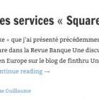 Mouvement dans les services «Square like» en Europe