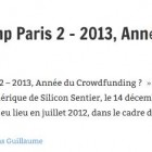 Crowdfunding Camp Paris 2 – 2013, Année du Crowdfunding ?