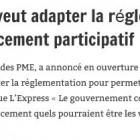 Le gouvernement veut adapter la réglementation pour permettre le financement participatif